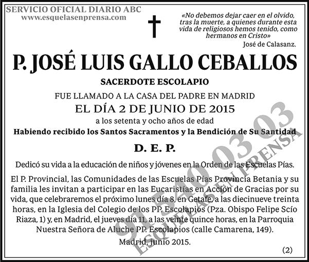 José Luis Gallo Ceballos